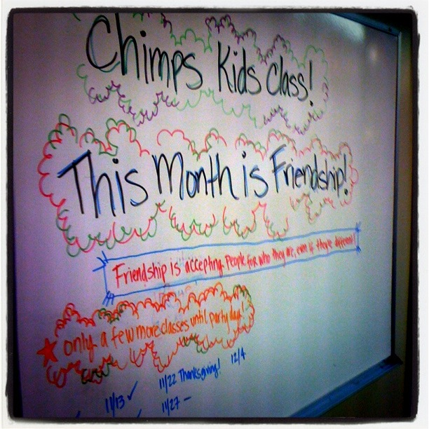 This month in kids martial arts class