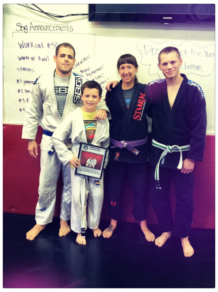 Kid's martial arts class, June 2013 Student of the month