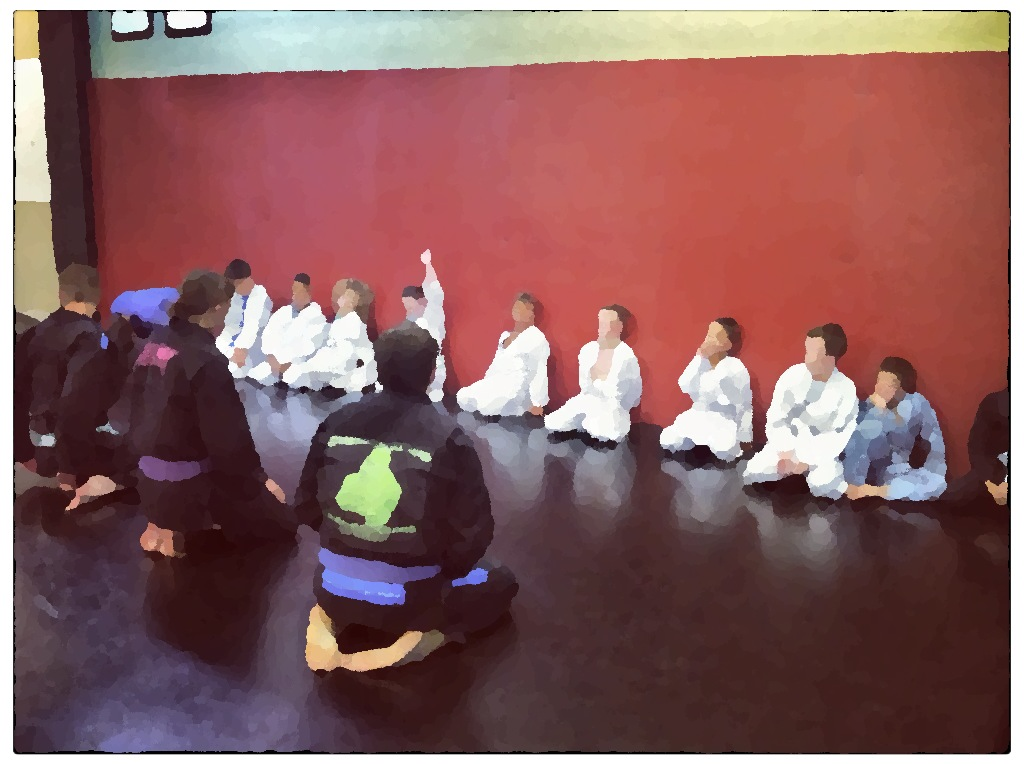 Questions in kid's martial arts class